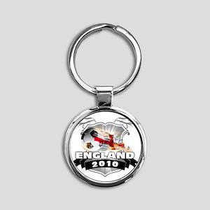 ENGLAND World Cup 2010 Round Keychain