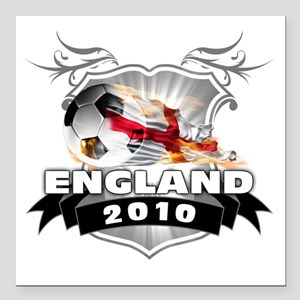"""ENGLAND World Cup 2010 Square Car Magnet 3"""" x 3"""""""
