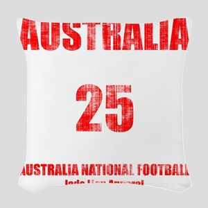 Australia football vintage Woven Throw Pillow