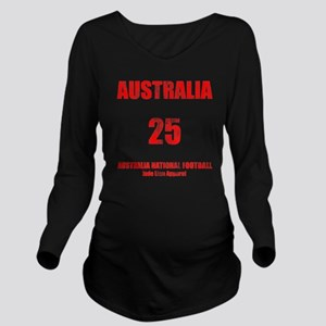 Australia football v Long Sleeve Maternity T-Shirt