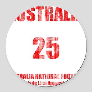 Australia football vintage Round Car Magnet