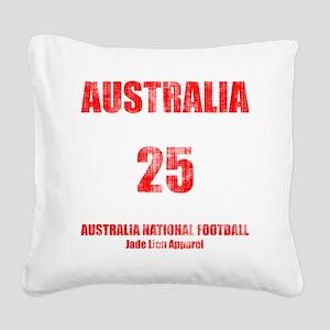 Australia football vintage Square Canvas Pillow