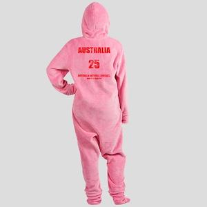 Australia football vintage Footed Pajamas