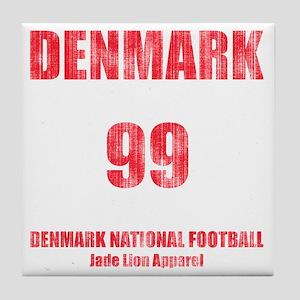 Denmark football vintage Tile Coaster