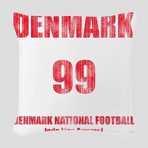 Denmark football vintage Woven Throw Pillow