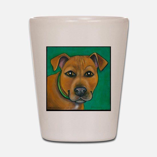 Pit Bull Mix Toby Shot Glass