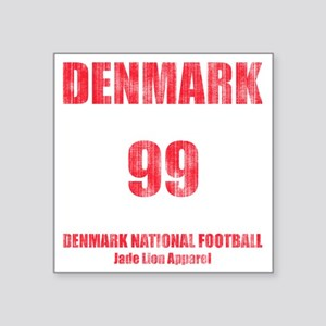 "Denmark football vintage Square Sticker 3"" x 3"""