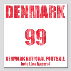 "Denmark football vintage Square Car Magnet 3"" x 3"""