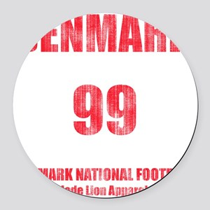 Denmark football vintage Round Car Magnet