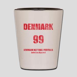 Denmark football vintage Shot Glass