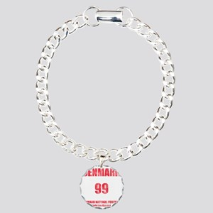 Denmark football vintage Charm Bracelet, One Charm