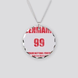 Denmark football vintage Necklace Circle Charm
