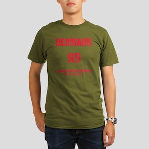 Denmark football vint Organic Men's T-Shirt (dark)