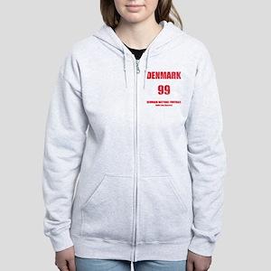 Denmark football vintage Women's Zip Hoodie