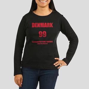 Denmark football  Women's Long Sleeve Dark T-Shirt