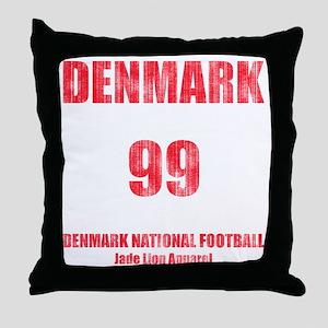 Denmark football vintage Throw Pillow