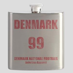 Denmark football vintage Flask