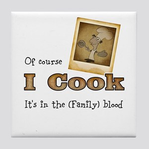I cook Tile Coaster