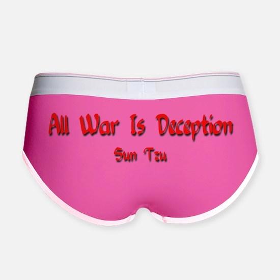 War is Deception - antiwar Women's Boy Brief