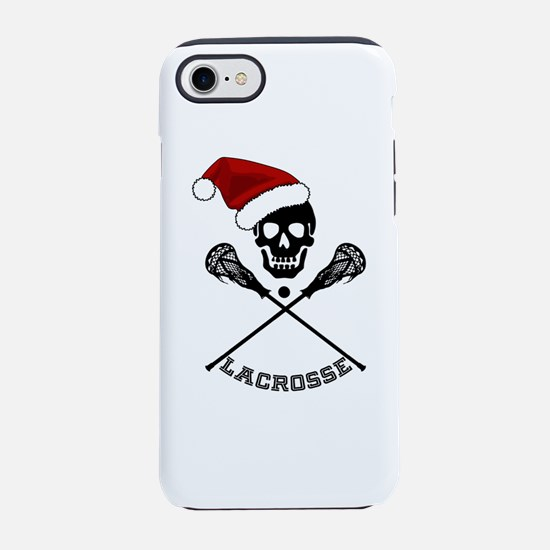 Christmas Lacrosse with Santa iPhone 7 Tough Case