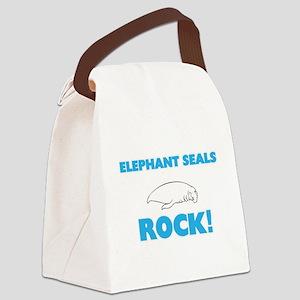 Elephant Seals rock! Canvas Lunch Bag