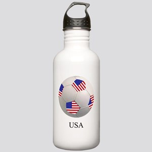 SOCCER BALL WITH AMERI Stainless Water Bottle 1.0L