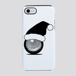 Christmas Golf Ball with Santa iPhone 7 Tough Case