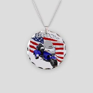 AB08 C-2K FREE BLUE Necklace Circle Charm