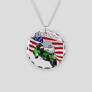 AB08 C-2K FREE GREEN Necklace Circle Charm