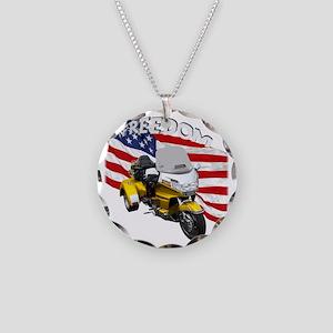 AB08 C-2K FREE GOLD Necklace Circle Charm