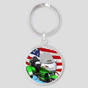 AB08 C-MOUSE FREE GREEN Round Keychain