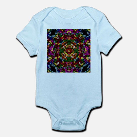 crazy mosaic rings Body Suit