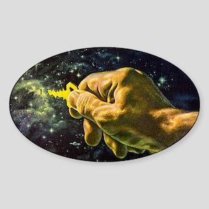 Universe_Post Sticker (Oval)