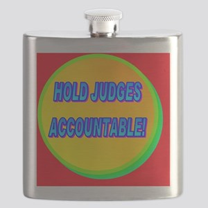 HOLD JUDGES ACCOUNTABLE!(framed panel print Flask