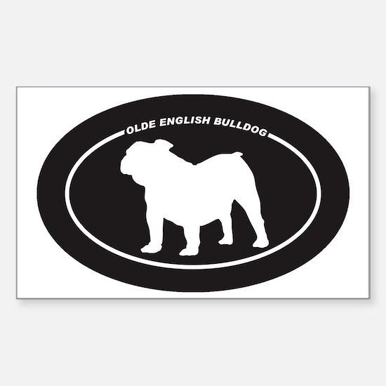 Olde-English-Bulldog Sticker (Rectangle)