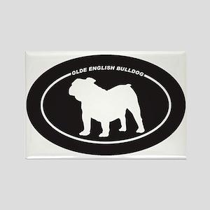 Olde-English-Bulldog Rectangle Magnet