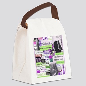 recovery9x12frmpanelprintpurp Canvas Lunch Bag
