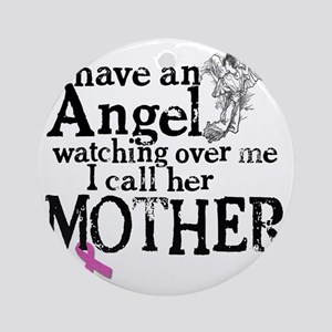 8-mother angel Round Ornament