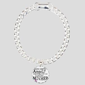 8-mother angel Charm Bracelet, One Charm