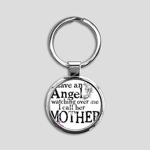 8-mother angel Round Keychain