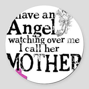 8-mother angel Round Car Magnet