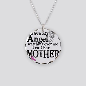 8-mother angel Necklace Circle Charm