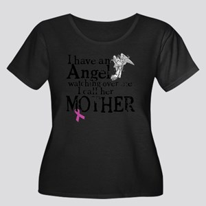 8-mother Women's Plus Size Dark Scoop Neck T-Shirt