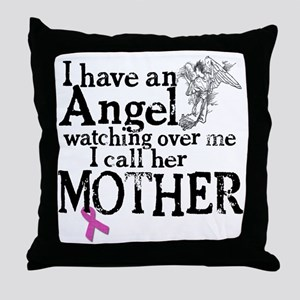 8-mother angel Throw Pillow