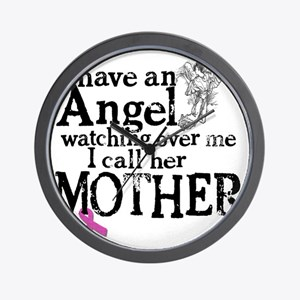 8-mother angel Wall Clock