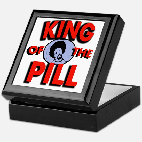king of the pill copy Keepsake Box