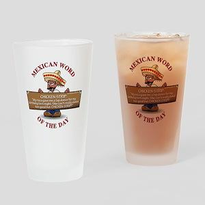 MWOD-ChickenStrip Drinking Glass