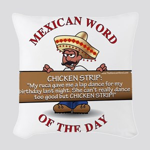 MWOD-ChickenStrip Woven Throw Pillow