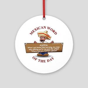 MWOD-Aspen Round Ornament