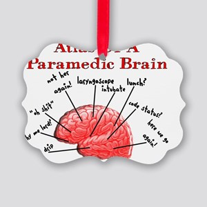 Atlas of a Paramedic Brain Picture Ornament